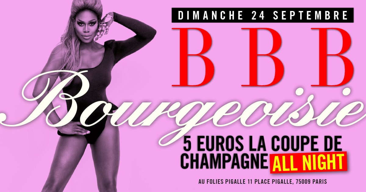 Dimanche 24 septembre 2017 : SOIREE BBB BOURGEOISIE